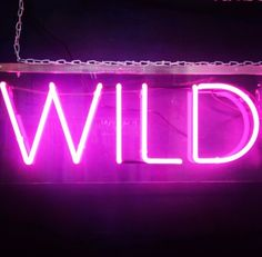 'WILD' NEON SIGN ๑෴MustBaSign෴๑