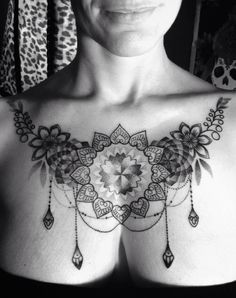 baroque chestpiece for women - Design of Tattoos