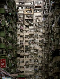 Kowloon - yes somebody actually built this and people live here - a LOT of people