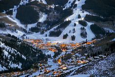 Beaver Creek, Colorado! amazing skiing and warm chocolate chip cookies at the base!!