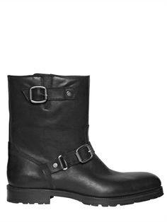JIMMY CHOO DOUBLE BUCKLE LEATHER BIKER BOOTS Luxury Fashion, Mens Fashion, Biker Boots, Luxury Shop, Jimmy Choo, Menswear, House Design, Leather, Beauty