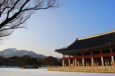 Gyeongbokgung Palace, Seoul, in winter