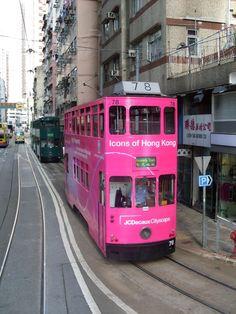 Hong Kong pink bus #HongKong #China