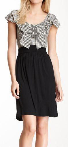 Bow stripes dress