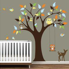Infantiles pegatinas etiquetas árbol con etiqueta por Modernwalls
