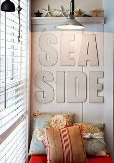 Coastal window nook. Sitting by the Sea Side.