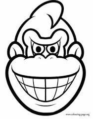 Donkey Kong Coloring Page - AZ Coloring Pages Donkey Kong, The Donkey, Colouring Pages, Printable Coloring Pages, Coloring Books, Free Coloring, Coloring Pages For Kids, Kids Coloring, Super Mario Coloring Pages