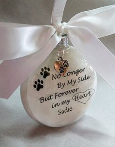 memorials quotes Pet Memorial Christmas Ornament - In Memory Gift - No Longer By My Side Forever in My Heart - Loss of Cat - Personalized Dog Keepsake Vinyl Ornaments, Glitter Ornaments, Diy Christmas Ornaments, Christmas Balls, Homemade Christmas, Christmas Projects, Holiday Crafts, Christmas Decorations, Pet Christmas Gifts