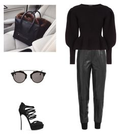 """""""Senza titolo #13"""" by annadallolio ❤ liked on Polyvore featuring Vince, Burberry, Casadei and Christian Dior"""