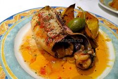 Braised Cuttlefish with Tomatoes & Capers - Kalofagas - Greek Food & Beyond