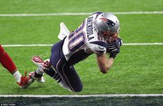 The wide receiver collected a bullet pass from Brady to see New England trail by 10 points...