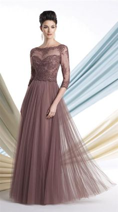 ILLUSION GOWN from Victorian Trading Co. in mauve or black