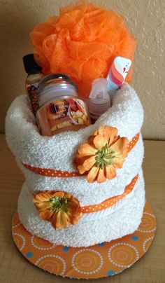 Spa towel cake