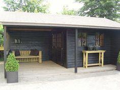 Jan de Boer Tuinhuizen | Tuinhuis met veranda Linge
