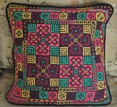 Hand Stitched embroidered Egyptian Palestinian Bedouin Cushion Pillow