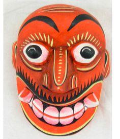 Red Demon Folk Mask