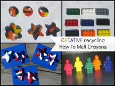 How To Melt Crayons into New Fun Shapes #crafts #kids Directions @ Mom Always Finds Out
