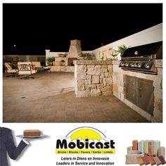 modern patio paver design. Get all your paving supplies from Mobicast has the largest range of bricks, paving and retaining blocks in the Southern Cape. We have branches in George, Mossel Bay and Harkerville. #paver #ideas #landscaping