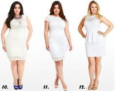 Shapely Chic Sheri - White Party: 18 Plus-Sized White Dresses