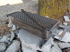 Custom made steel Hibachi grill with food turner от TheIronGrinder