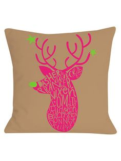Neon Noel 1 Pillow by OneBellaCasa at Gilt