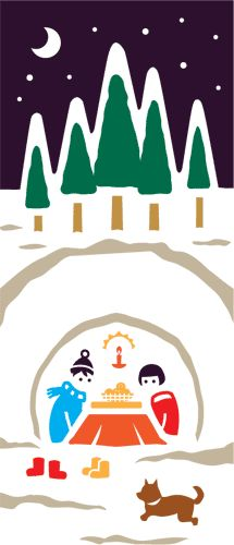 【楽天市場】【セール中!】てぬぐい こよみ かまくらの夜【カランコロン京都】【メール便対応可】:SOUVENIR公式オンラインショップ
