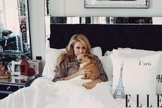 Paris Hilton at Home - Paris Hilton Fashion Shoot Photos - ELLE