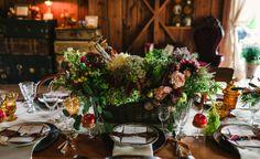 Autumn centerpiece from Melanie Benson Floral