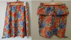 DIY Peplum skirt with tropical pattern.  http://beholdfashion.wordpress.com