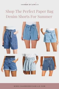 It's impossible to wear full length denim in the summer heat. The obvious alternative here is jean shorts, which are great. Charmed By Camille shares how she dresses up her summer wardrobe with pleated denim and paper bag shorts. In her newest blog post she shares her favorite polished shorts to shop this season. Check out this casual denim look and other summer fashion trend by clicking the pin! Black Jeans Outfit Night, White Jeans Outfit Summer, Denim Shorts Outfit, Jeans Outfit Winter, Summer Denim, White Denim Shorts, Jean Shorts, Double Denim, Summer Fashion Trends
