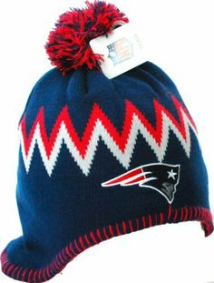af4e652cb27 New England Patriots Vintage Style Beanie Knit Pom Pom Hat Cap Blue NFL.   11.92