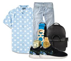 """Deonte"" by og-kinghenry15 ❤ liked on Polyvore featuring Forever 21, Salvatore Ferragamo, BUSCEMI, Rolex, NIKE, men's fashion and menswear"