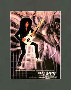 Steve Stevens & Hamer Guitar MATTED Promo Ad - Hamer - 80s Rock N Roll - Prints - Wall Art - Music - Paper Ephemera - Music Art - Pin Up by MusicSellerz on Etsy