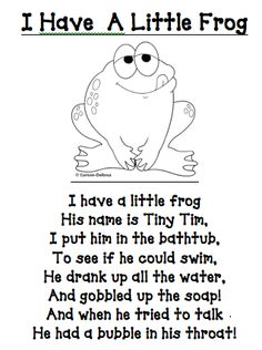 rx online I have a little frog poem/printable (other great printables too!) I have a little frog poem/printable (other great printables too! Preschool Poems, Preschool Music, Preschool Activities, Frogs Preschool, Rhyming Poems For Kids, Kindergarten Poems, Funny Kids Poems, Funny Rhymes For Kids, Spring Songs For Preschool