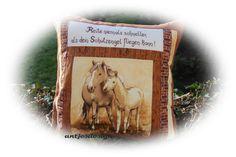 Pferdekissen mit Schutzengelspruch von Antjes Design auf DaWanda.com