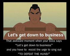 Mulan has ruined me! ;) hahaha I fav movie!!!