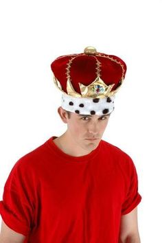 Don this noble and stately red King hat, it makes an excellent addition to your next Halloween or play costume. Halloween Clown, Halloween Costumes, Kitty King, King Hat, Clown Hat, Harry Potter Sorting Hat, Novelty Hats, Royal King, Crown Logo