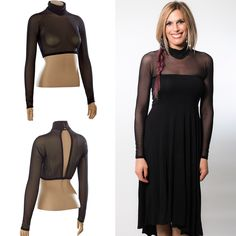666735dd775e67 NEW high neck sleeves worn UNDER your sleeveless favorite dress top! Expand  your wardrobe