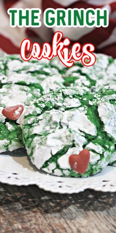 Crinkly, Cranky, Grinch Cookies - The perfect way to celebrate the grinchiest part of the holidays. Yes, I am talking about taking out the stress of the holidays and sitting back in your recliner to enjoy these delicious and green cookies! Pistachio Pudding Cookies, Mint Chocolate Chip Cookies, Chewy Sugar Cookies, Crinkle Cookies, Easy Christmas Treats, Christmas Desserts, Christmas Baking, Christmas Cookies, Grinch Christmas