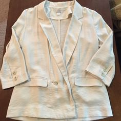 LC Lauren Conrad lightweight blazer Very cute! Perfect for an office look, over a camisole with jeans, or over a sundress. Very lightweight, perfect for spring or summer. LC Lauren Conrad Jackets & Coats Blazers