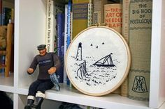 Harbour Embroidery Kit Create a wonderful harbour Embroidery Kits, Rafting, Textile Design, My Design, My Favorite Things, Create, Artwork, Projects, Handmade
