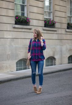 Joules Plaid Shirt With Skinny Jeans https://raindropsofsapphire.com/2017/09/26/the-lorena-plaid-shirt-with-skinny-jeans/