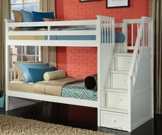 School House Bunk Bed with Stairs