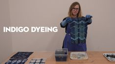 Materials - Mixing the Vat - Creating Resist - Testing the Reduction State - Dyeing Fabric - Achieving a Darker Shade of Blue - Blue Pigment, Indigo Dye, How To Dye Fabric, Silk Painting, Shades Of Blue, Tie Dye, Youtube, Diy, Crafts