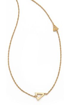 A dainty charm necklace will upgrade any outfit — from sweatshirt and jeans to LBD. Jennifer Zeuner, Sasha Diamond Necklace