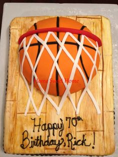 SPALDING BASKETBALL CAKE | Pin Basketball Cake By Cakes Lameeka Custom Designs Cake on Pinterest