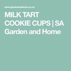 Nothing beats milk tart and this recipe puts a spin on the South African favourite. Try these milk tart cookie cups for the ultimate treat. Melktert, Pear Tart, South African Recipes, Cookie Cups, Sweet Tarts, Christmas Baking, No Bake Cake, Street Food, Cake Recipes
