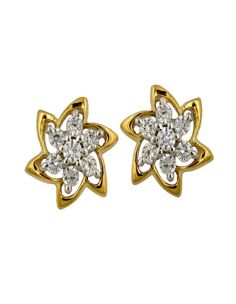 Floral Diamond Stud on diamonds4you.com A Floral designed earring crafted with 14 Diamonds.