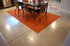 basement flooring concrete stained