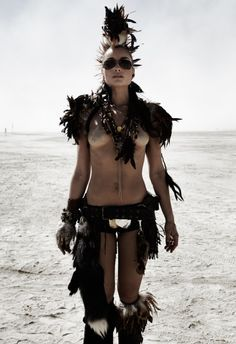 halloween chic fashion burning man - Google Search